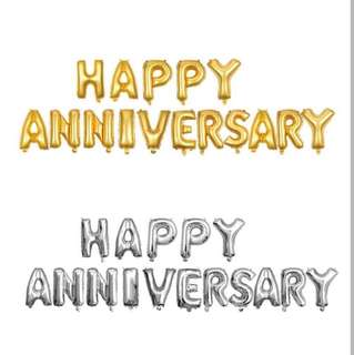 Happy anniversary foil balloon set