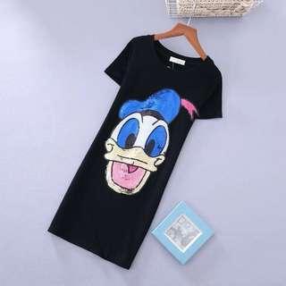 PO-Donald Duck long shirt - black