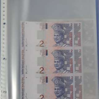 Malaysia uncut notes unc
