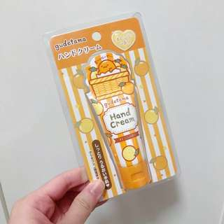 NEW! Original Sanrio Japan Orange Gudetama Hand Cream Moisturiser