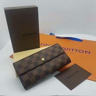 Louis Vuitton Portefeuille Sarah Long Wallet Damier