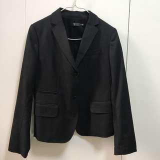 全新 Jill sander X uniqlo blazer black colo 黑色西裝外套
