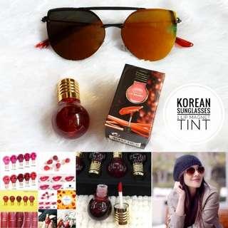Korean Sunglasses + Lip Tint