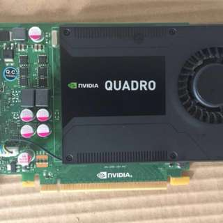Quadro K2000 2Gb VRAM :: GPU Memory. 2GB GDDR5. Memory Interface. 128-bit. Memory Bandwidth. 64.0GB/s. CUDA Cores. 384. System Interface. PCI Express 2.0 x16. Max Power Consumption. 51W. Thermal Solution. Ultra-quiet active. fansink