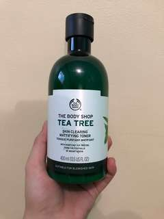 BRAND NEW Body Shop facial wash, toner and moisturizer