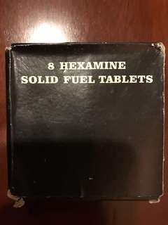 Camping / Camp Fire : 8 Hexamine Solid Fuel Tablets