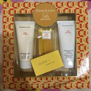 Elizabeth Arden 5th Avenue ORIGINAL with free moisturizing lotion and hydrating cream cleanser for body
