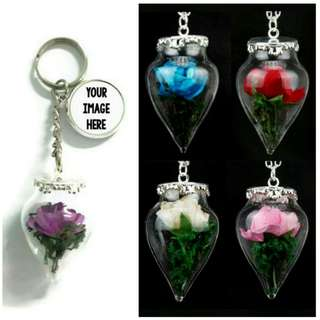 Customized Rose Keychains