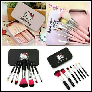Hello kitty make-up brush 7pieces