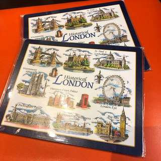 Informative London Mouse Mats!! (NEW) wrapped
