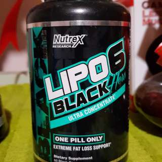 Lipo 6 Black Weight Loss Supplement Lose Burn Fats Fast