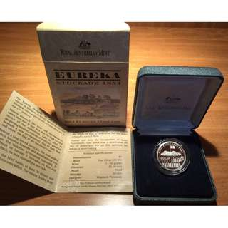 Silver Proof Coin AUD 1 - Year 2004 150th Anniversary of Eureka Stockade 1854