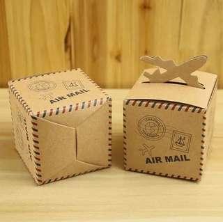 PO Kraft Airplane Theme Candy Gift Box