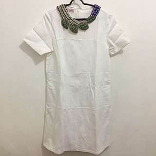 Ramune white dress + necklace