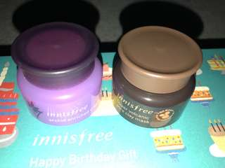 Innisfree Orchid Enrich Cream & Super Volcanic pore clay mask