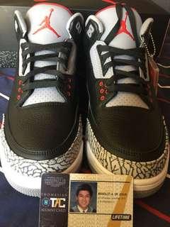 Brand New Jordan 3 Black Cement