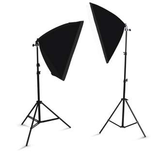 Studio Photography Lighting Softbox With Bulbs x2
