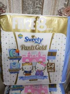 Sweety Pants Size L 62 pcs