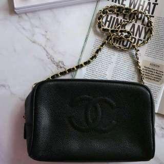 Vintage Chanel 中古黑色金鏈手袋