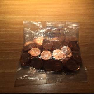 Sealed Pack of Euro 1 Cent Coins (Ireland) Minted 20/03/2000 ... First Euro coins to be minted!