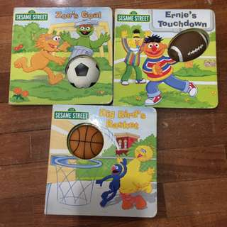 Pre-loved sesame street books x 3