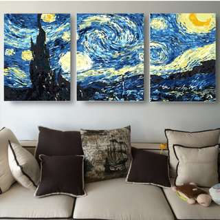 DIY Paint by Numbers (Starry Night)