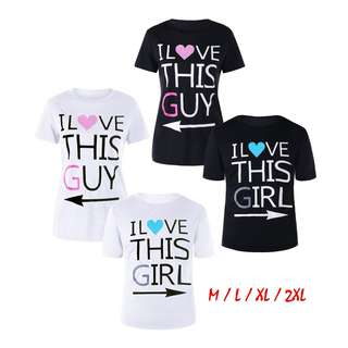💯 Graphic Print Matching Couple Tee