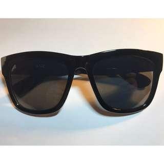 大框方形全黑色太陽眼鏡(S6)