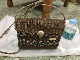 Handmade rattan sling bag