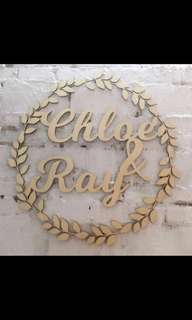 Wedding decoration - custom signage