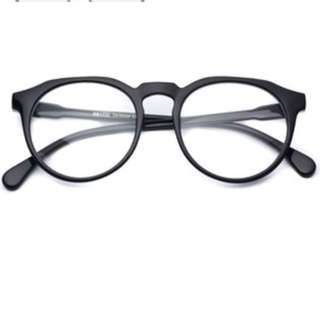 Round Black Specs Without Degree