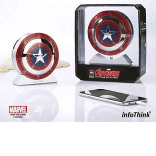 InfoThink 美國隊長盾牌造型行動電源7800mAh x 藍牙喇叭
