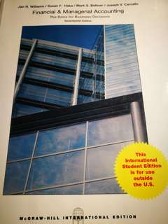 Financial & Managerial Accounting seventeenth Edition