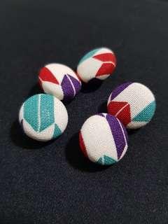 Handmade Yagasuri Fabric Buttons