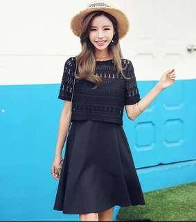Brand new black two pieces dress