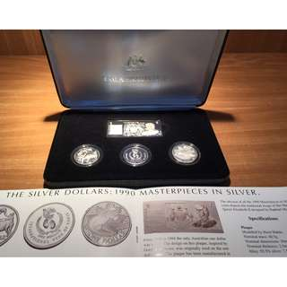 1990 Silver Dollars Set by Royal Australian Mint