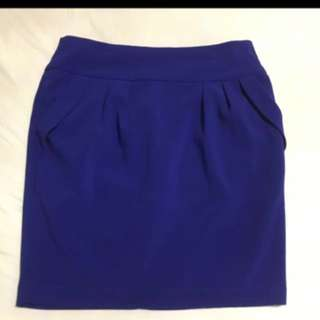 Blue tulip skirt with pockets
