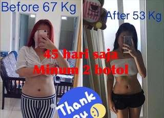 Obat diet kurus langsing suplemen sexy terbukti 45 hari saja