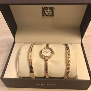 Anne Klein Watch and Cuff Set