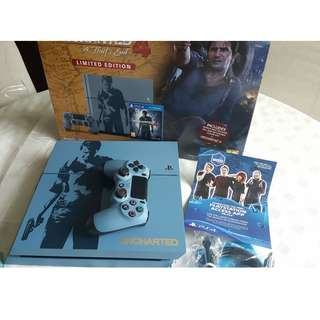 PS4 500GB Console - Uncharted 4 Limited Edition Bundle