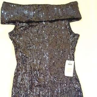 ASOS Sequin Off-Shoulder Dress - New