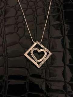 100% New & Real Swarovski 施華洛世奇 心形 方形 水晶 頸鏈 情人節 母親節 送禮
