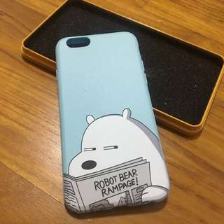 We Bare Bears Ice Bear Phone Case in Metal Tin