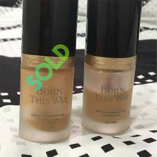 Authentic Too Faced Born This Way Foundation Full Sized