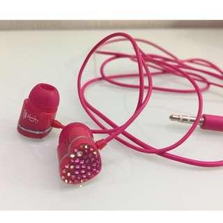 Earphones • 粉紅色閃石耳機