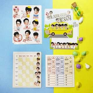Exo Cute Back To School Sticker