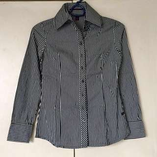 Kisses & Co Pinstriped Blouse