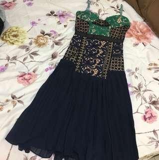 Premium three floor lace dress
