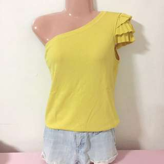 FLASH SALE -- Venus Cut Yellow Top