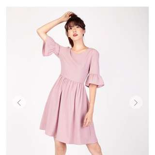 Aforarcade Stroll At Sunset Dress In Pink